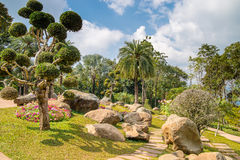 Mae Fah Luang Garden, situada em Doi Tung Fotografia de Stock Royalty Free