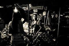 Mae gim heng Markt in Korat, Thailand Royalty-vrije Stock Fotografie