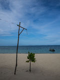 Mae Haad海滩的被分离的海对酸值Maa 免版税库存图片