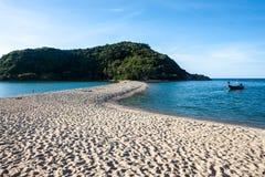 Mae Haad beach and Koh Ma islet Stock Image