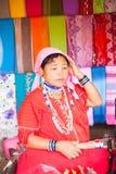 MAE HONG SON, CHIANG MAI, THAILAND - NOV 21, 2013: Unidentified Royalty Free Stock Photo