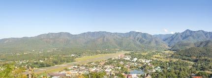 Mae Hong Son Panorama sikt, nordliga Thailand Arkivbilder