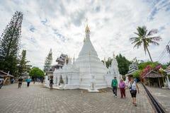 MAE HONG SON, THAIMany people visit Burmese-style chedi of Wat Phra That Doi Kong Mu Royalty Free Stock Image