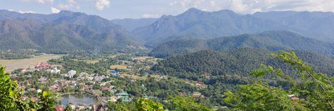 Mae Hong Son view with mountain landscape nature. Mae Hong Son view with mountain landscape nature background Stock Image