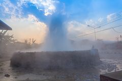 Mae Kajan Hot Spring à la PA Pao Chiang Rai Thailand de Wiang photos libres de droits