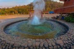 Mae Kajan Hot Spring em Pa Pao Chiang Rai Thailand de Wiang imagem de stock royalty free