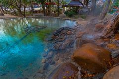 Mae Kajan Hot Spring på Wiang PA Pao Chiang Rai Thailand Arkivbilder