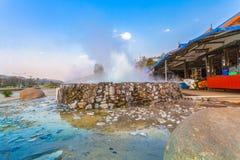 Mae Kajan Hot Spring a PA Pao Chiang Rai Thailand di Wiang immagini stock libere da diritti