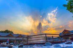 Mae Kajan Hot Spring a PA Pao Chiang Rai Thailand di Wiang immagine stock libera da diritti