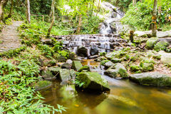 Mae Kampong Waterfall Chiang mai  Thailand. Royalty Free Stock Images