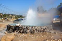 Mae Khachan Hot Spring på Mae Chedi Royaltyfri Fotografi