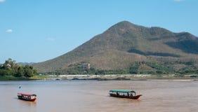 Mae Khong rzeka, Kaeng Khut Khu Chiang Khan zdjęcia stock