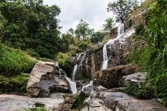 Mae Klang beauty Waterfall  in Chiang Mai Province, Doi Inthanon Stock Photography