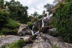 Mae Klang beauty Waterfall  in Chiang Mai Province, Doi Inthanon Stock Photo
