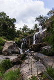 Mae Klang beauty Waterfall  in Chiang Mai Province, Doi Inthanon Royalty Free Stock Image