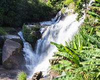 Mae Klang Waterfall in Chiang Mai Province, Doi Inthanon Thailand Royalty Free Stock Images