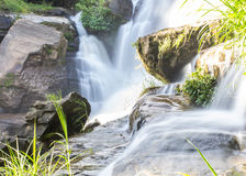 Mae Klang Waterfall in Chiang Mai Province, Doi Inthanon Thailand Royalty-vrije Stock Afbeeldingen