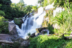 Mae Klang Waterfall in Chiang Mai Province, Doi Inthanon Thailand Royalty Free Stock Photo