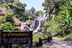 Mae Klang Waterfall in Doi Inthanon, Chiang Mai Province Thailand Royalty Free Stock Photography