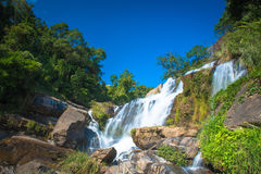 Mae Klang waterfall in doi-inthanon Chiangmai , Thailand One of the famous waterfalls Royalty Free Stock Image