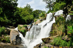 Mae Klang waterfall, Doi Inthanon national park, Chiang Mai in T Stock Photo