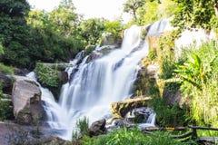 Mae Klang Waterfall en Chiang Mai Province, Doi Inthanon Thaïlande Photographie stock