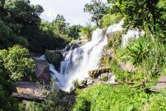 Mae Klang Waterfall i Chiang Mai Province, Doi Inthanon Thailand Arkivfoto