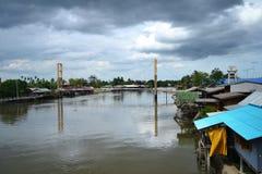 Mae Klong flod Royaltyfri Bild