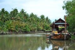 Mae Klong flod Arkivfoto