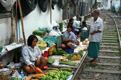 Mae Klong Railway Market Stock Images