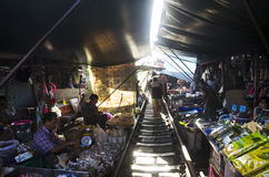 Mae klong Railway Market or Talat Rom Hup in Samut Songkhram, Thailand Stock Image