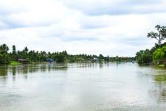 Mae Klong River. Samutsongkhram province of Thailand stock image