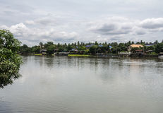 The Mae Klong river in Thailand. The Mae Klong is a river in western Thailand that begins at the confluence of the Khwae Noi and the Khwae Yai River in royalty free stock images