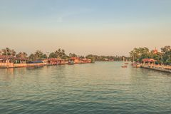 Mae Klong River: This is a very popular tourist attraction in the city of thailand. Mae Klong River: This is a very popular tourist attraction in the city stock image