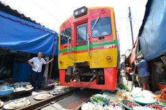Mae Klong train marrket, Thailand Royalty Free Stock Photography