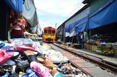 Mae Klong train marrket, Thailand Royalty Free Stock Photo