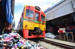 Mae Klong train marrket, Thailand Royalty Free Stock Photos