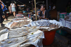 Mae Klong train marrket, Thailand Royalty Free Stock Images