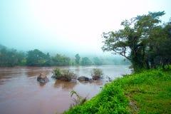 Mae Kok River Chiang Rai Arkivfoto
