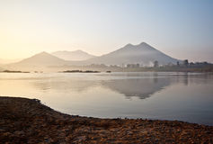 Mae Kong river in the morning time Royalty Free Stock Image