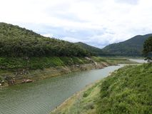 Mae Kuang Dam. It`s a very good and quiet place with beautiful nature. stock image