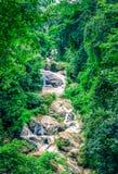Mae Sa-Wasser fällt in den Wald bei Mae Rim, Chiang Mai, Thailan stockbild