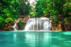 Mae Sa waterfall national park in Mar Rim, Chiang Mai, Thailand Royalty Free Stock Photo