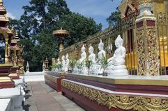 Mae Sai District Province av Chiang Rai Thailand Wiang Phang Kha Arkivbilder