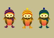małe sowy Obrazy Royalty Free