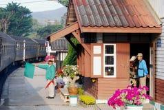 Mae Tan Noi Train Station near Chiang Mai, Thailand Stock Photos
