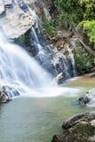 Mae Tia瀑布, Ob肺国家公园在Chiangmai泰国 库存照片