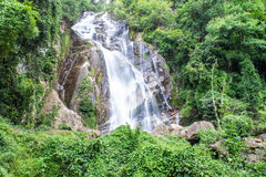 Mae Tia waterfall, Ob Lung national park in Chiangmai Thailand Stock Photography