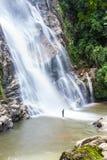 Mae Tia-waterval, Ob-Long nationaal park in Chiangmai Thailand Royalty-vrije Stock Fotografie