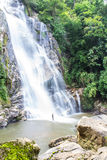 Mae Tia-waterval, Ob-Long nationaal park in Chiangmai Thailand Stock Afbeelding